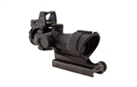 Trijicon ACOG 4x32 Scope, Center Illuminated Amber Crosshair .223 Ballistic Reticle, 3.25 MOA RMR Sight, and TA51 Mount