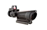 Trijicon ACOG 3.5x35 Scope, Dual Illuminated Red Crosshair .223 Ballistic Reticle, 3.25 MOA RMR Sight, and TA51 Mount