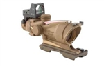 Trijicon ACOG 4x32 Dark Earth Brown Scope, Dual Illumination Red Crosshair Reticle w/ 3.25 MOA RMR Sight
