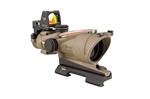 TRIJICON ACOG 4x32 Dark Earth Brown Scope, Dual Illumination Red Crosshair Reticle w/ 3.25 MOA RMR Sight -- Shop Demo