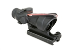 TRIJICON ACOG 4x32mm Dual Illuminated Red Chevron .223 Ballistic Reticle with TA51 Flat Top Adapter