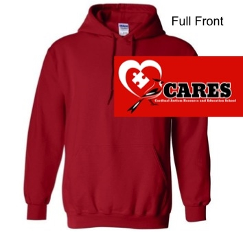 Red Hooded Sweatshirt (Adult and Youth)