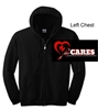 Black Full-Zip Hooded Sweatshirt (Adult and Youth)