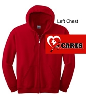 Red Full-Zip Hooded Sweatshirt (Adult and Youth)