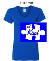 Royal Short Sleeve V-Neck Cotton T-Shirt (Ladies)