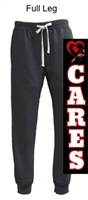 Black Heather Vintage Cotton Fleece Jogger (Adult)