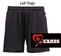 "Black Performance Shorts Ladies 5"" and Girls 4"" (Ladies and Girls)"