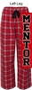 Red Plaid Flannel Pants (Adult and Youth)