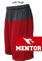 Red with Graphite Performance Shorts  (Adult and Youth)
