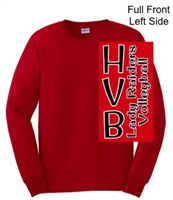 Red Ultra Cotton Long Sleeve Shirt (Adult and Youth)