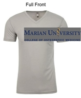 Silver Cotton Polyester Short Sleeve V-Neck Shirt (Adult)
