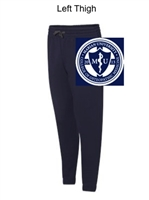 Navy with Charcoal Trim Cotton/Polyester Joggers (Adult)