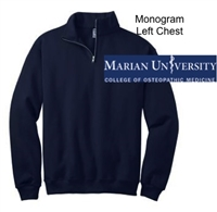 Navy 1/4 Zipper Sweatshirt (Adult)