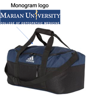 Navy and Black Adidas Bag (One Size)