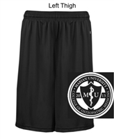 Black Polyester Shorts with Pockets (Adult and Youth)