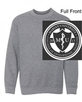 Graphite Heather Crew Sweatshirt (Adult and Youth)