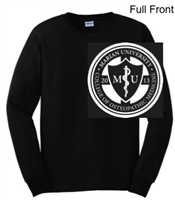 Black Ultra Cotton Long Sleeve Shirt (Adult and Youth)