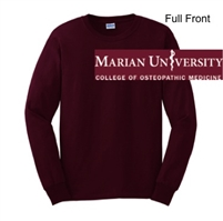 Maroon Ultra Cotton Long Sleeve Shirt (Adult and Youth)