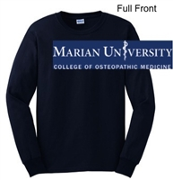 Navy Ultra Cotton Long Sleeve Shirt (Adult and Youth)