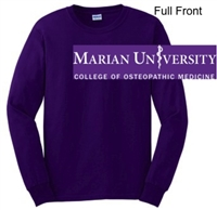 Purple Ultra Cotton Long Sleeve Shirt (Adult and Youth)