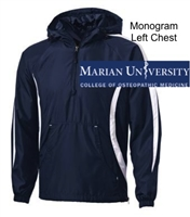 Navy and White Colorblock Wind Jacket (Adult)