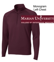 Maroon Polyester Spandex 1/4 Zipper Jacket (Adult)