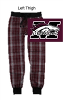 Maroon Plaid Flannel Jogger Pants (Adult and Youth)