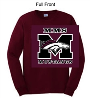 Maroon Long Sleeve T-Shirt (Adult and Youth)