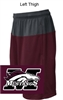 Maroon and Grey Performance Shorts with Pockets (Youth and Adult)