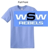 Columbia Blue Short Sleeve Cotton T-Shirt (Adult and Youth)