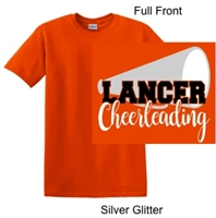 Orange Short Sleeve T-Shirt (Adult and Youth) GLITTER