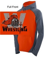 Orange and Graphite Hooded Sweatshirt (Adult)