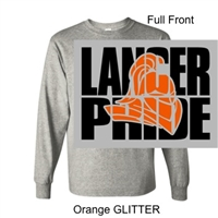 Sport Grey Long Sleeve T-Shirt (Adult and Youth) GLITTER