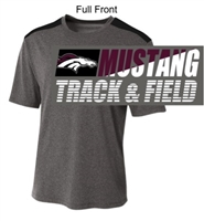 Heather Grey and Black Performance Short Sleeve Shirt (Adult and Youth)