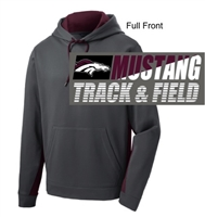 Smoke Grey and Maroon Performance Hoodie (Adult and Youth)