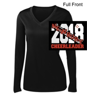 Black Performance Tee - Long Sleeve (Ladies)