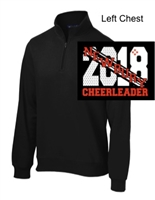 Black 1/4 Zipper Sweatshirt (Adult)