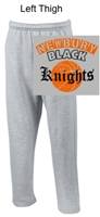 Sport Grey Open Bottom Sweatpants with Pocket (Adult)