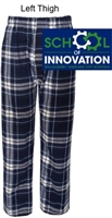 Navy and White Flannel Pants (Adult and Youth)