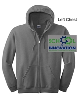 Sport Grey Full Zipper Hooded Jacket (Adult and Youth)