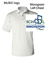 White Cotton/Polyester Polo  - Music Logo (Adult and Youth)