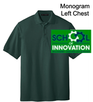 Dark Green Cotton/Polyester Pique Polo (Adult and Youth)
