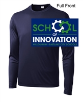Navy Performance Tee - Long Sleeve (Youth and Adult)