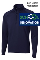 Navy Polyester Spandex 1/4 Zipper Jacket (Adult and Ladies)