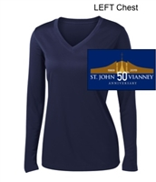 Navy Performance Tee - Long Sleeve (Ladies)