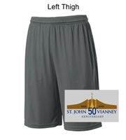 Iron Grey Performance Shorts with Pockets (Adult and Youth)