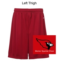 "Red Performance Shorts Adult 9"" and Youth 6"" (Adult and Youth)"