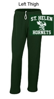 Hunter Green Open Bottom Sweatpants  (Adult and Youth)