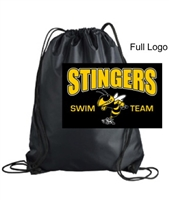 Black Drawstring Backpack (One Size)