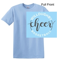 Light Blue Short Sleeve Cotton T-Shirt (Adult and Youth)